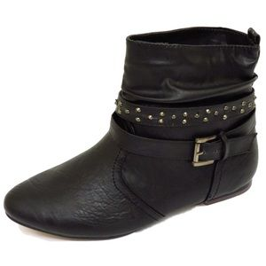 Black Slouchy Ankle Boots